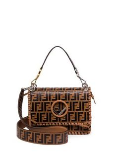 9e0041bc1a28 Fendi Kan I Whipstitched Logo Shoulder Bag