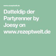 Datteldip der Partyrenner by Joesy on www.rezeptwelt.de Tapas, Silvester Party, Chutney, Pesto, Brunch, Food And Drink, Butter, Yummy Food, Snacks
