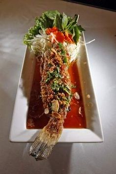 Taste of Thai, Des Moines, IA: Angry Catfish $12.95 #Restaurant #Des_Moines #Catfish #Taste_of_Thai
