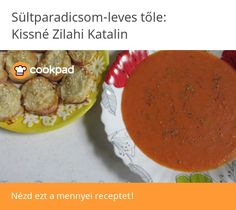 Sültparadicsom-leves Baked Potato, Potatoes, Baking, Ethnic Recipes, Food, Red Peppers, Potato, Bakken, Essen