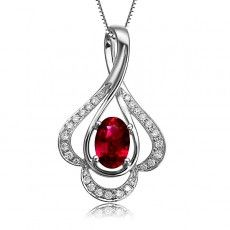 Colored stone pendant