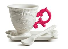 SELETTI Tasse Von der I-Caff Kaffee Fuchsia