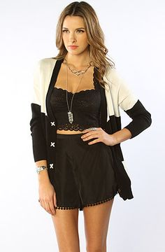 The Jersey Girl Shorts in Black L M XS S