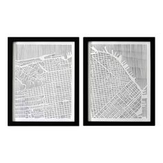 A Dipytch traditionally means two flat panels attached at a hinge. This is a modernist approach to that framework and displays the beauty of San Francisco. Hang these complementary panels together for a sprawling artwork.  Studio KMO is the studio artwork of architect and artist, Karen M. O'Leary