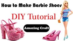 How to Make Barbie Shoes at Home - DIY Barbie Doll Shoes Craft is a pastime or a profession that requires particular skills and knowledge of skilled work. Barbie E Ken, Barbie Dolls Diy, Diy Barbie Clothes, Barbie Clothes Patterns, Barbie Stuff, Ag Dolls, Diy Doll, Girl Dolls, Doll Shoe Patterns