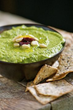 Green monster hummus, from Namely Marly.