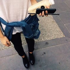 Imagen de fashion, outfit, and style Fashion Killa, Look Fashion, Denim Fashion, Daily Fashion, Street Fashion, Fashion Women, Fashion Ideas, Fashion Tips, Grunge