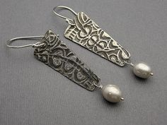 Misty  Sterling Silver Long Triangle and Lush by designsbysuzyn, $68.00