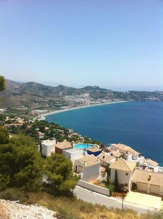 La Herradura,spanish village at a secluded bay at the beautiful Costa Tropical, Andalucía, Spain. How To Speak Spanish, Learn Spanish, Costa, Rent A Villa, Spanish Speaking Countries, South Of Spain, Tropical, Galapagos Islands, Spain And Portugal