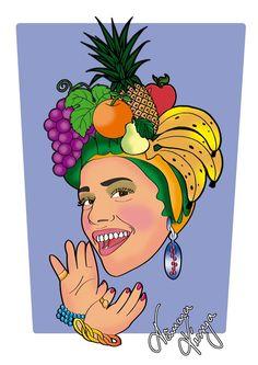 A Cantora Aila Menezes, ex participante do THE VOICE BRASIL. Sou fã, acompanho o trabalho e criei esse job, pois a cantora estava apresentando um trabalho na época com referencias de Carmem Miranda!