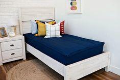 Styled for Boys – Beddy's Navy Boys Rooms, Boys Nautical Bedroom, Girls Bedroom, Bedroom Decor, Sister Bedroom, Bedroom Ideas, Interior Design Games, Zipper Bedding, One Bed