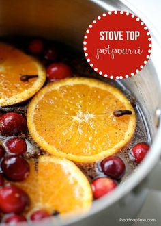 8 natural air freshners - #2 - Holiday stove top potpourri