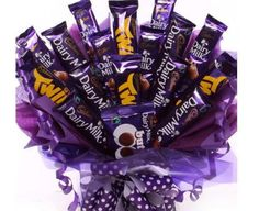 Large chocolate bouquet made from Cadbury chocolate bars, a stunning gift perfect for birthdays, get well, anniversary or thank you gift, UK next day delivery. Cadbury Chocolate Bars, Chocolate Tree, Valentine Chocolate, Chocolate Gifts, Candy Bouquet Diy, Gift Bouquet, Sweet Bouquets Candy, Candy Boquets, Chocolates