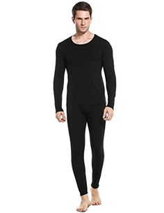 4672caf3707 Discover Ekouaer Men s Long Thermal Underwear Fleece Lined Winter Long Johns  Base Layer Set S-