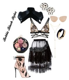 """""""Untitled #69"""" by bobbieblush on Polyvore featuring Giuseppe Zanotti, Rodarte, Leo Pizzo, Cutler and Gross, WithChic, Majesty Black, For Love & Lemons, Marni and Fragments"""