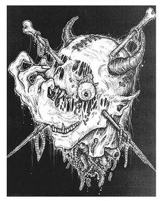 Artist Mark Riddick Knows How to Get Your Skin Crawling #skulls #skullart