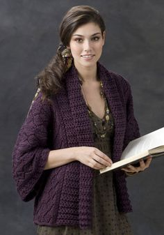 Free Knitting Pattern - Women's Jackets & Outerwear: Xian Knit Kimono Jacket