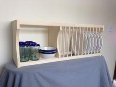Under Cabinet Plate Rack with Shelf. $145.00, via Etsy. Cabinet Plate Rack, Plate Racks, Interior Room Decoration, Interior Decorating, Plate Storage, Prim Decor, Under Cabinet, Rack Shelf, Kitchen Design