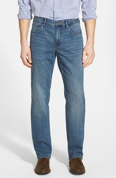Denim 'Dallas' Authentic Fit Straight Leg Jeans (Medium Vintage Wash)
