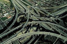 Los Angeles Freeway, California.  And I have trouble with this small mix of freeways where I live!