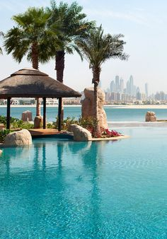 The hotel's private beach, serviced by the nearby Maui bar, really does have the best of both worlds, offering views over the ever-more crowded city skyline from the serenity of immaculately combed sands. #Jetsetter Sofitel Dubai The Palm Resort (Dubai, United Arab Emirates)