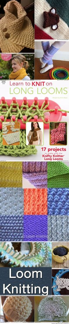 Tons of loom knitting patterns!!! Good gracious Im in trouble ...