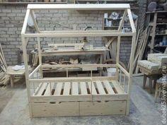 Мебель ручной работы. Ярмарка Мастеров - ручная работа. Купить домик кровать. Handmade. Комбинированный, сосна