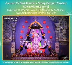 Ujjain Ke Yuvraj Home Ganpati 2016 Decoration Pictures, Decorating With Pictures, Ganpati Picture, Ganpati Festival, Festival Decorations, Picture Video, Rocks, Tv, Television Set