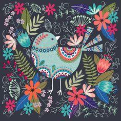 Art Floral, Vintage Floral, Art Et Illustration, Floral Illustrations, Folk Art Flowers, Flower Art, Flower Vector Art, Art Rupestre, Art Et Architecture