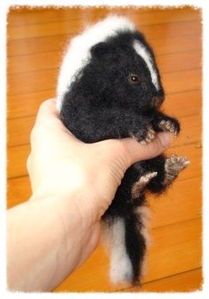 Ooak+Needle+Felted+Baby+Skunk+by+FireflyFelts+on+Etsy,+$200.00
