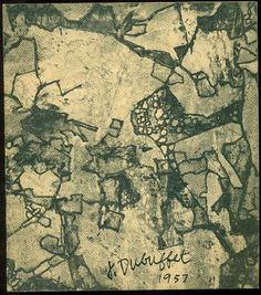 Exhibition of Peintures d'Assemblages, Graffiti, Sols, Texturologie and other Recent Works done in 1956 and 1957 By Jean Dubuffet. New York, Pierre Matisse Gallery, 1958. Catalogo di mostra