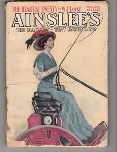 Antique Ainslee's magazine cover art