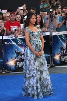 Zoe Saldana Flaunts Her Baby Bump At London Guardians of the Galaxy Premiere in Valentino ...Amid Reports She's Expecting TWINS! - #TalkOfDC - #TalkOfDC
