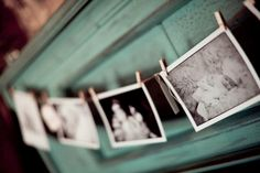 .cute to hang photos with clothespins of her 1st 12 months