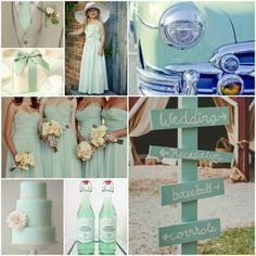 #Inspiración en #Menta para tu #Boda #BridesmaidsCollection