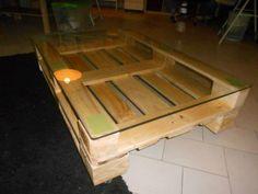 DIY Pallet Sofa, Pallet Living Room Table