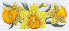 Daffodil Border design (E9074) from www.Emblibrary.com