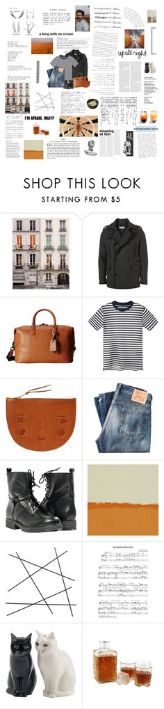 """""""Won't you spare me over another year?"""" by the-clary-project ❤ liked on Polyvore featuring Topman, Coach, MANGO MAN, Donna Wilson, Levi's Vintage Clothing, Paolo Shoes, HARLEQUIN, CB2 and living room"""