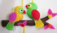 Pajaritos - felt birds
