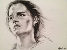 Hermione Granger as played by Emma Watson in the Harry Potter movies. Harry Potter Portraits, Harry Potter Artwork, Images Harry Potter, Harry Potter Drawings, Harry Potter Sketch, Harry Potter Hermione, Harry Potter Fan Art, Realistic Drawings, Love Drawings