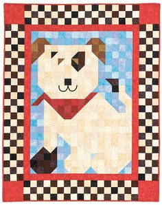 A Quick Quilt Label Method Dog Quilts, Cute Quilts, Animal Quilts, Barn Quilts, Small Quilts, Patch Quilt, Quilt Blocks, Baby Quilt Patterns, Quilt Baby