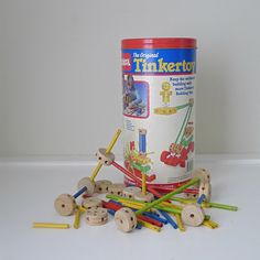 Vintage 1980s Playskool Tinker Toy Set. Played with this whenever I went to my Mamaw's house.