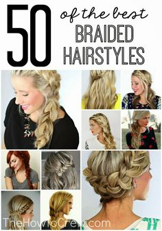 50 of the BEST braided hairstyles with step-by-step instructions!