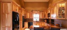 enchanting rustic kitchen cabinets creating glorious natural | Hickory rustic kitchen cabinets by Medallion. A natural ...