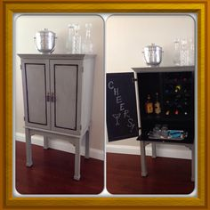 Wine Bar From A Bombay Tv Cabinet