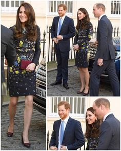 The Royal Trio are at the Institute of Contemporary Arts in London outlining their ambitions for the Heads Together campaign for 2017! The campaign aims to change people's general perception of mental health by encouraging us to talk more about it. #headstogether Kate is in a new dress by Erdem today.