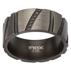 Milano Jewelers - Gun Metal Grey Stainless Steel Ring