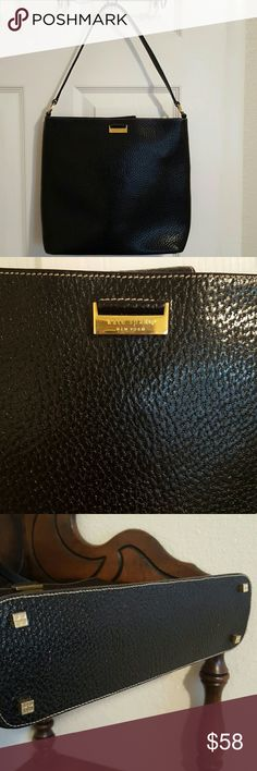 Kate Spade Black Pebbled Leather Purse Made in Italy.  Quality and classy. 10x12x3. kate spade Bags Shoulder Bags