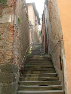 Saluzzo-stairs in Italy