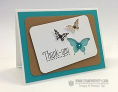 Stampin up stampinup order stamp it pretty mary fish papillon potpourri bitty elegant butterfly punch another thank you card